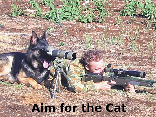 Funny pic for dog lovers and gun folks - Xoutpost.com