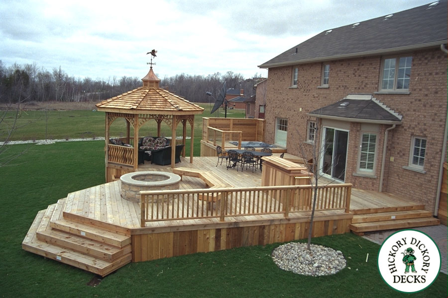 awesome deck and patio ideas designs photos - home decorating ... - Backyard Patio Deck Ideas