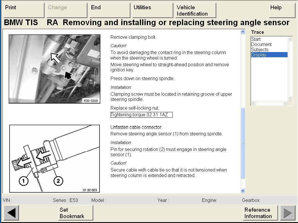 Bmw X3 Steering Angle Sensor