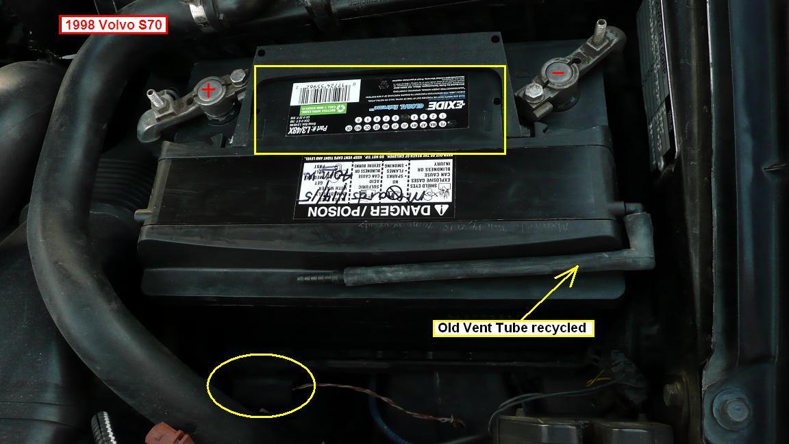 D E X Battery Options List Exide Batt on Volvo S70 White