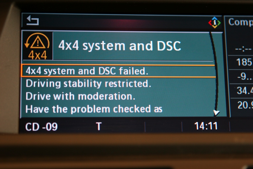 Bmw 4x4 System And Dsc Have Malfunctioned